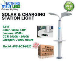 Solar & Charging Station Light 6.5W 600LM 75000 Hours