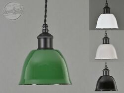 Small Bell Cup Vintage Industrial Factory Enamel Shade Lampshade Steel Pendant $73.29