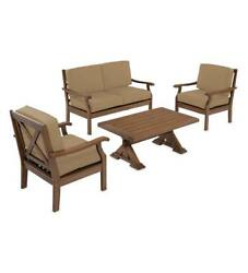 Claremont Outdoor Patio Deep Seating Love Seat Furniture Set with Cushions