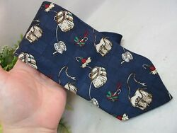 Field and Stream men's neck tie.100% silk.Fishing lurestackle box. Made in USA