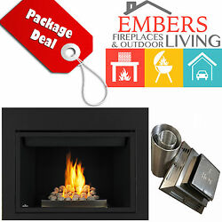 NAPOLEON HD46 DIRECT VENT GAS FIREPLACE ROCK BURNER VENT KIT & REQUIRED SURROUND