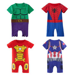 Baby Boy Superhero Costume Romper Newborn Hulk Outfits Infant Playsuit Clothes