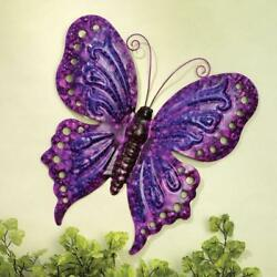 Butterfly Wall Decor Metal Purple Home Office Bedroom Living Room Gift Her New $19.81