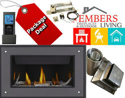 Napoleon Ascent BL36 Contemporary Fireplace Stylo Surround WoodGlass Package