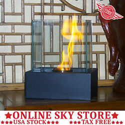 Outdoor Indoor Tabletop Fireplace Table Top Ethanol Small Fire Pit Burner Glass