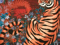 Hermes Carre 140 Shawl Scarf Stole Tiger Animal Cashmere Silk Women New Rare