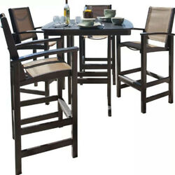 Patio Furniture High Top Table Set Lawn Garden Yard All Weather Wicker