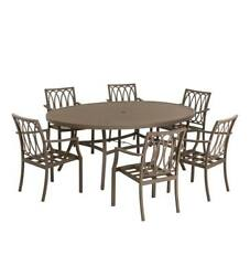 Topsail Outdoor Patio Oval Dining Table w 6 Dining Chairs Set 78
