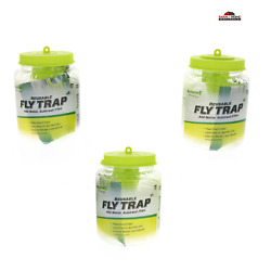 3 Rescue Reusable Non Toxic Fly Trap amp; Attractant New $26.95