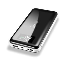 NEW 2000000mAh Power Bank Qi Wireless Charging 2 USB Portable Battery Charger $24.80