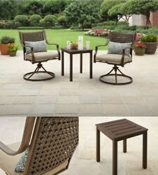 Outdoor Patio Conversation Set Dining Furniture Garden Bistro Table Chairs 3 Pc