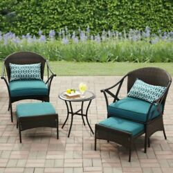 Outdoor Patio Conversation Set Garden Dining Furniture Bistro Table Chairs 5 Pc