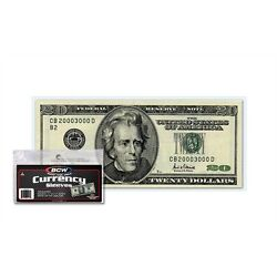 (100) US Currency Paper Money Bill Protector Sleeves for Regular Bills by BCW $5.89