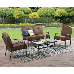 Patio Dining Set Outdoor Garden Furniture 4 Piece Chairs Table Bistro Yard Deck