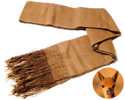 100% Authentic Fiber Vicuna Wool Artisanal Handmade Scarf from Peru