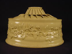 VERY RARE MAGNIFICENT EARLY 1800s 3 PIECE GAME DISH WITH LINER YELLOW WARE $775.00