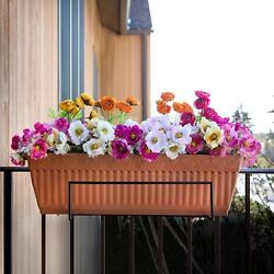 Flower Pot Holder Rack Balcony Box Porch Patio Deck Railing Fence Trellis Garden