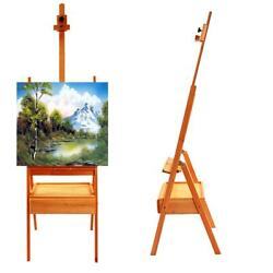 Durable French Easel Stand Wooden Sketch Box Portable w Dispaly Artist Painters