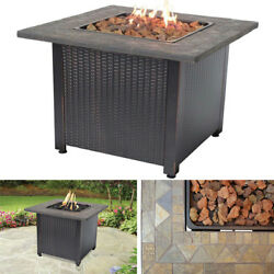 Fire Pit Table Top Propane Set Patio Coffee Gas Outdoor Fireplace Metal Firebowl