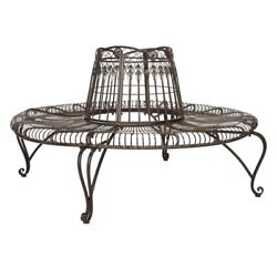Safavieh Ally Darling Wrought Iron 60.25-in. Outdoor Tree Bench