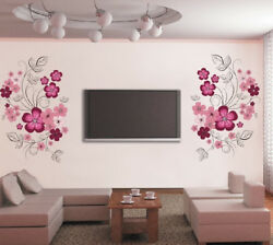 Removable Vinyl Wall Stickers Flowers Room Background Home Decoration Wall Decal AU $16.00