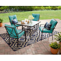 5 Piece Dining Set Garden Patio Outdoor Yard Deck Furniture Table 4 Chairs Lawn