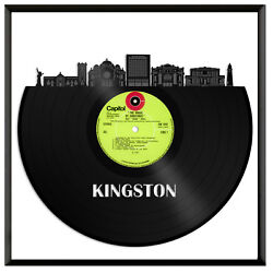 Kingston Jamaica Vinyl Wall Art Cityscape Souvenir Anniversary Framed