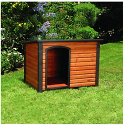Outdoor Weather Dog Home Shelter Houses Outback Pet Extreme Wood Log Cabin New