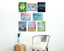 Motivational Quotes Modern Room Decor The World Mini Collection Wall Cards $12.00