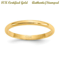 10K SOLID Yellow GOLD Regular Fit - SIZE Two *SMALL RING* *TOE RING* *KNUCKLE*