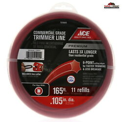 Commercial Grade Trimmer Line .105 inch x 165 Feet NEW