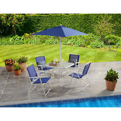 6 Piece Patio Dining Set Table Chairs Outdoor Garden Furniture Bistro Folding