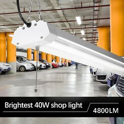 LED Shop Light Workshop Daylight 4FT 40W Garage Bright Ceiling Fixture Linkable