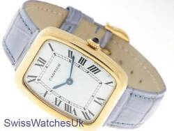 CARTIER BAIGNOIRE LADIES 18K GOLD QUARTZ WATCH - CARTIER WATCH