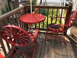 francois carr red patio furniture 3 pcs set hard to find rocking chairs