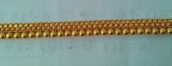 HANDMADE ANKLETS AWESOME DESIGN BALL ANKLET  WOMEN GIRLS 22 K GOLD JEWELRY