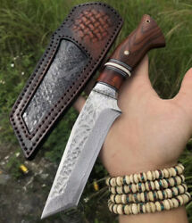 JAPANESE VG10 DAMASCUS HUNTING KNIFE SURVIVAL OUTDOOR CAMPING FIXED BLADE RESCUE $147.99