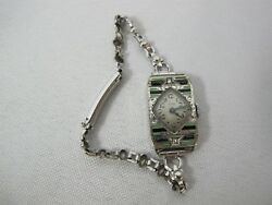 Elgin Watch Antique 14K Gold filled Sapphire Diamonds VINTAGE PARTS REPAIR $125.97
