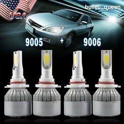 9005 9006 Combo LED Headlight Bulbs Kit High Low Beam for 1997-2007 H