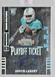 2014 Contenders Playoff Ticket Jarvis Landry Auto Rc .# to 99 $49.95