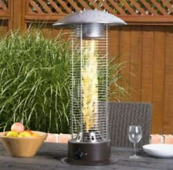 Glass Fire Flame Outdoor Tablemount Induction Heater Propane Gas Patio Table Top