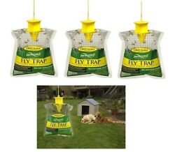 Rescue Disposable Fly Traps 3 Pack New $21.95