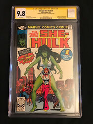 The Savage She-Hulk #1 (Feb 1980 Marvel) CGC 9.8 SS Stan Lee White Pages