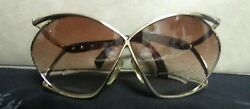 Vintage Christian Dior 2056 41 Sunglasses Gold Butterfly Frame Austria
