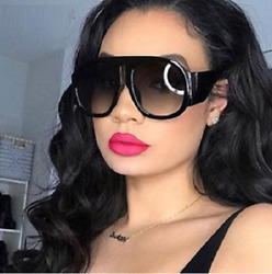 Round Thick Frame Jag Large Fashion Designer Women Men NEW Style Sunglasses