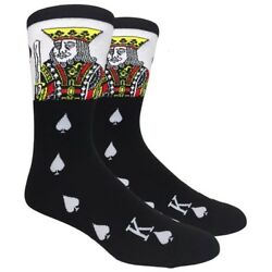 Fine Fit Mens Novelty Crew Dress Socks LARGE The King $9.99
