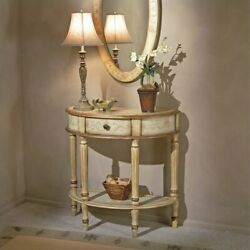 Butler Specialty Artists' Originals Demilune Console Table in Cream