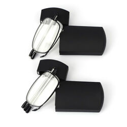 Metal Compact Folding Reading Glasses with Carrying Case 2 Pair Double Take $11.29