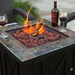 Outdoor Patio Heaters LPG Propane Fire Pit Table Medium Size