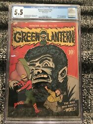 Green Lantern #10 CGC 5.5 Origin and 1st Vandal Savage Golden Age vol 1 OW pages